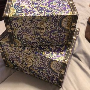 Jewelry boxes.